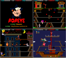 Popeye released in the arcades