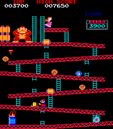 Donkey Kong released in the arcades